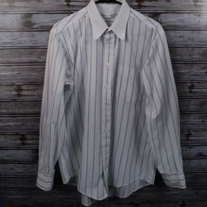 Christian Dior Men's Striped Long Sleeve Button Up